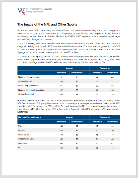 Image of the NFL and Other Sports